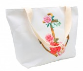 Y-E5.5  BAG003-007 Beach Bag Flower Anchor 48x30cm