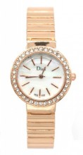 A-D20.1  W523-005 Quartz Watch Metal with Crystals 25mm Rose Gold