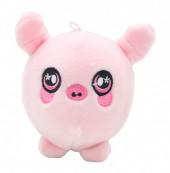 Z-F6.2 TOY308-001C Plush Squishy Pig 8x8 cm