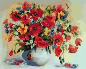 Y-C2.5 MS7616 Paint By Number Set Flowers 50x40cm