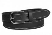 S-G4.4 BELTI-002 Grain Leather Belt Black 3.5x130cm