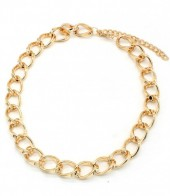 A-A23.1 N001-008 Metal Chain Necklace Gold