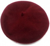 Y-E1.4  HAT502-001E Trendy Woolen Baret Adjustable Size Bordeoux