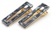 E-E21.2  H413-003 Hair Clip Set 2pcs Marble Grey