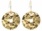 C-A23.2 E2019-041G Earrings 4cm Coin 2.5cm Creoles Gold