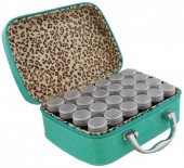 Y-F2.1  TOOL2112-025 Suitcase 13.5x19x7cm with 24 Jars Blue