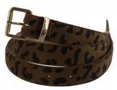 X-D1.1 BELT002-003 PU Belt with Leopard Print Brown 95cm