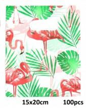 T-L3.2 Plastic Bags Flamingo 100pcs 15x20cm