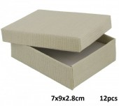 Z-E3.5 Giftbox for Necklace-Ring-Earrings 7x9x2.8cm Grey  12pcs