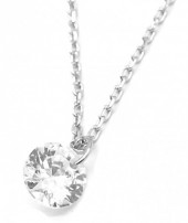 G-B16.1  SN104-204 925S Necklace 6mm Cubic Zirconia