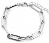 B-D9.2 B2003-005 S. Steel Chain Bracelet Silver