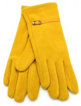 S-D3.2 GLOVE403-004C Soft Gloves with PU Strap and Crystal Yellow