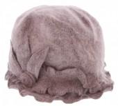 X-C4.1  Woolen Hat with Large Flower Purple