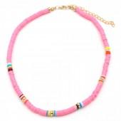 C-A3.1  N1925-007 Choker Surf Necklace 37 - 43cm Pink