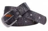 G-D9.2  FTG-063 Leather with PU Belt Stars Grey 100cm