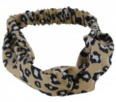 S-J1.3 H305-144A5 Headband Leopard Print Light Brown