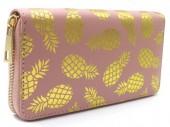 R-H7.1 WA529-002A PU Wallet Pineapples 19x10cm Pink