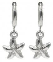 C-C19.3 E2121-019S S. Steel Earrings Starfish 1x2.5cm Silver