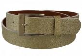 S-D4.3  PU Belt 110cm with Glitters AdjustaS-D4.3  PU Belt 110cm with Glitters Adjustable 85-110cm Golde 85-110cm Gold