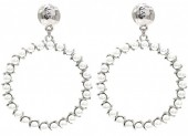 C-D23.2 E1631-069B Earrings with Pearls 6x4.5cm