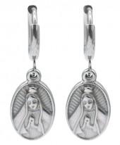 B-D20.3 E2121-018S S. Steel Earrings Maria 1x2.5cm Silver