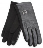 S-C6.1 GLOVE403-009B Gloves with Double PU Strap Black