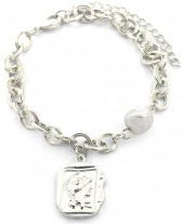 C-E22.1 B2019-004S Chain Bracelet with Pearl and Coin Silver