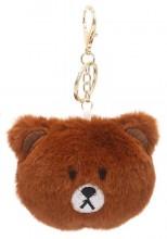 S-E5.2 KY2035-027E Keychain Fluffy Bear 9x7x3cm Brown