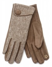 R-F7.2 GLOVE403-097E Gloves with Button Brown