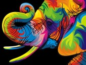 T-L7.1   X383 Diamond Painting Set Elephant 40x30cm Round