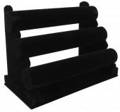 Z-E3.1 PK098 Display 3 Layers Velvet 31x23x17cm Black