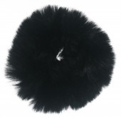 S-D7.1 H414-004B Fluffy Scrunchie Large Black