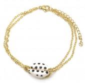 E-C21.1  B2121-010G S. Steel Bracelet Shell Dots Gold