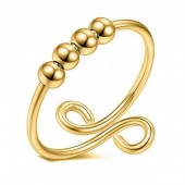 D-A4.1 R007-001G S. Steel Ring Balls Adjustable Gold