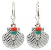 C-D7.2 E2019-033S Earrings Shell 1.5x3cm Silver