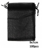 Q-J8.1 Organza Gift Bag 9x7cm Black 100pcs
