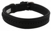 G-A16.2  MTDC-001 Leather Dog Collar Braided Black XXS 39x2cm