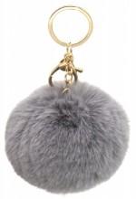 D-D10.2  KY414-004D Bag-Keychain Fluffy 9cm Grey