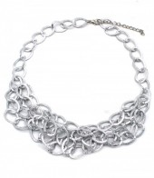 C-F21.1 N002-004  Metal Chain Necklace Silver