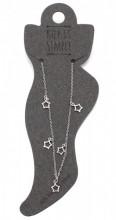 ANK104-014 Anklet 925 Sterling Silver Stars