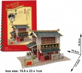 F-E24.3 W3129H 3D Puzzle Chinese Snack Shop China - 30pcs