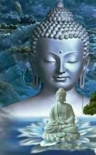 R-A2.1 H564 Diamond Painting Set Buddha Round Stones 50x40cm