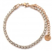 B-B17.1 B301-032RG S. Steel Bracelet with Crystals Rose Gold
