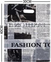 X-E2.1 Plastic Bag Fashion Newspaper 40x30cm  100pcs