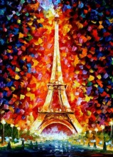 R-K2.2 S423 Diamond Painting Set Eiffel Tower 50x40cm