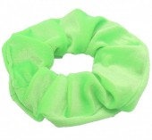 S-D3.1 H305-009A11 Velvet Scrunchie Bright Green