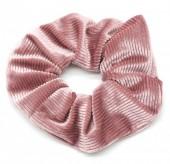 S-C6.1  H305-022B Rib Fabric Shiny Scrunchie Old Pink