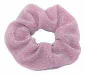 S-D6.5  H305-045O Glitter Scrunchie Purple-Pink