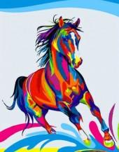 R-D2.1 S141 Diamond Painting Set Colorfull Horse 50x40cm