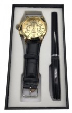 W425-001A Giftset Quartz Watch with Pen Black